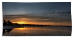 Waking To A Cold Sunrise Beach Towel