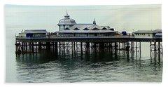 Beach Sheet featuring the photograph Wales Boardwalk by Joan  Minchak