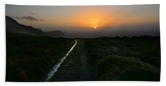Walk Along The Coast At Eary Cushlin Beach Towel