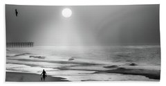 Walk Beneath The Moon Beach Sheet by Karen Wiles