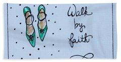 Walk By Faith Beach Sheet