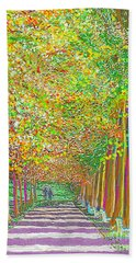 Walk In Park Cathedral Beach Towel