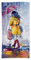 Walk In Rain II Beach Towel
