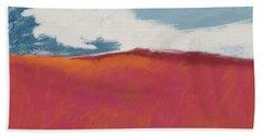 Walk In The Field- Art By Linda Woods Beach Towel