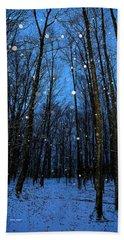 Walk In The Snowy Woods Beach Towel