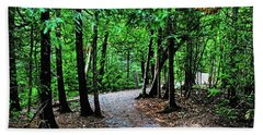 Beach Towel featuring the photograph Walk In The Woodlands by Gary Wonning
