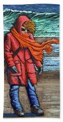 Walk On Beach Beach Towel