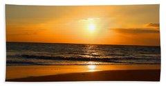 Walk On Hawaiian Beach Beach Sheet by Michael Rucker