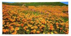 Walker Canyon Wildflowers Beach Towel