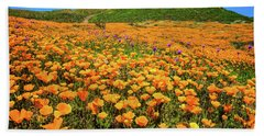 Walker Canyon Wildflowers Beach Towel