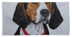 Walker Coonhound - Cooper Beach Towel by Megan Cohen