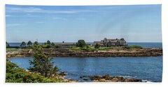 Walkers Point Kennebunkport Maine Beach Sheet by Brian MacLean