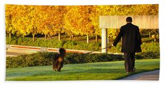 Walkies In Autumn Beach Towel