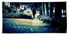 Walking A Lonely Path Beach Towel