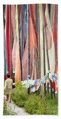 Walking By Prayer Flags Beach Towel