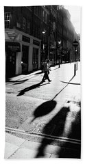 Beach Sheet featuring the photograph Walking In London by Lora Lee Chapman