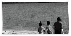 Walking In The Sand Beach Towel