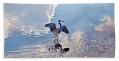 Walking On Water Beach Towel by Carolyn Marshall