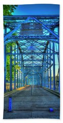 Walking Tall Walnut Street Pedestrian Bridge Art Chattanooga Tennessee Beach Sheet