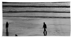 Beach Towel featuring the photograph Walking The Dog At Marazion by Brian Roscorla