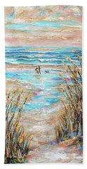 Walking The Dog IIi Beach Towel by Linda Olsen