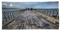 Walking The Pier Beach Sheet