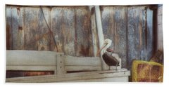 Beach Towel featuring the photograph Walking The Plank by Benanne Stiens