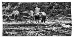 Walking The River Beach Towel