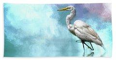 Walking Thru The Marsh Beach Towel by Cyndy Doty