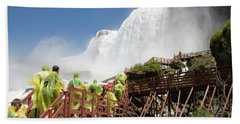Beach Towel featuring the photograph Walking Up Below Niagara Falls by Jeff Folger