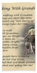 Walking With Grandma Beach Towel by Dale Kincaid