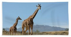 Walking With Mom Beach Towel