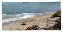 Walks On The Beach Beach Towel