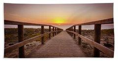 Walkway To The Sunrise Beach Towel