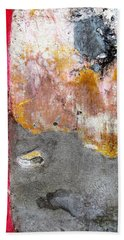 Beach Towel featuring the photograph Wall Abstract 151 by Maria Huntley