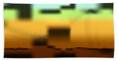 Beach Towel featuring the digital art Wall Gradient by Kevin McLaughlin