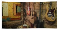 Wall Of Art And Sound Beach Towel