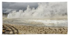 Beach Towel featuring the photograph Wall Of Steam by Sue Smith