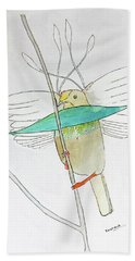 Wallace's Standardwing Bird Of Paradise Beach Towel by Keshava Shukla