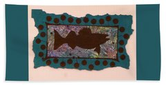 Walleye Silhouette Beach Towel