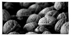 Walnuts Ready For Baking Bw Beach Towel