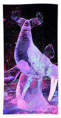 Beach Towel featuring the photograph Walrus Ice Art Sculpture - Alaska by Gary Whitton