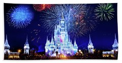 Walt Disney World Fireworks  Beach Towel