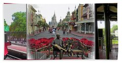 Walt Disney World Transportation 3 Panel Composite 02 Mp Beach Towel