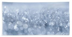 Waltz In The Garden Blue Beach Towel