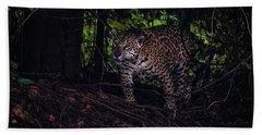 Wandering Jaguar Beach Towel by Wade Aiken
