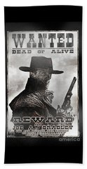 Wanted Poster Notorious Outlaw Beach Sheet