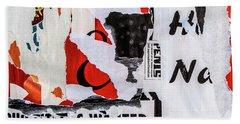 Wanted Beach Towel by Roseanne Jones