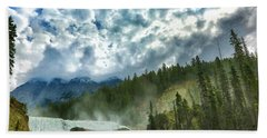 Wapta Falls 1 Beach Towel