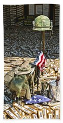 War Dogs Sacrifice Beach Towel by Carolyn Marshall